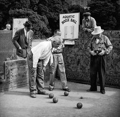 vintage everyday: Amazing Black & White Photographs of San Francisco from the 1940's-50's-Bocce Ball.