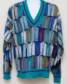 Rare 80's Vintage COLOURS By ALEXANDER by TheStandoutTieShop