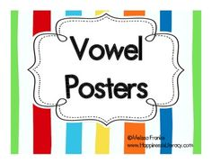 Nice, big vowel posters to hang on the wall!