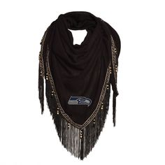 NFL Seattle Seahawks Beaded Shawl Scarf, Women's
