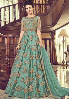 Looking to buy Anarkali online? ✓ Buy the latest designer Anarkali suits at Lashkaraa, with a variety of long Anarkali suits, party wear & Anarkali dresses! Salwar Kameez, Patiala, Robe Anarkali, Anarkali Suits, Punjabi Suits, Lehenga Choli, Designer Anarkali, Prom Dresses With Sleeves, Bridal Dresses