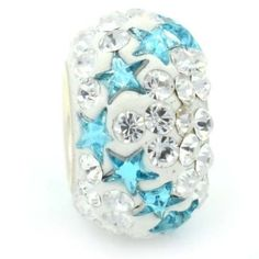 4f5d1e472 2 Light Blue Stars Swarovski Crystal Bead by YourCharmedStory, $18.00