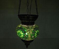 Check out this item in my Etsy shop https://www.etsy.com/listing/268978695/green-hanging-lamp-lampe-mosaique-night