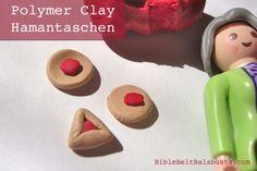 Polymer clay hamantaschen minis, DIY for kids #Purim