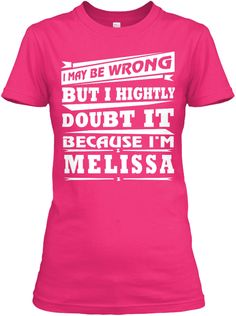 Best T Shirt Name Melissa!! Heliconia Women's T-Shirt Front