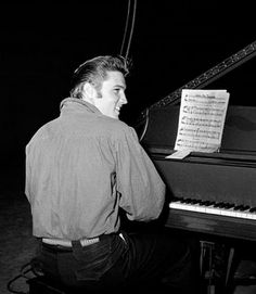 Elvis at the piano.