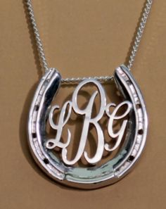 LG Horseshoe Monogram | Equestrian Pendants and Necklaces, Horse Pendants and Necklaces | Loriece.com
