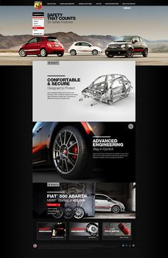 Web site design for the Fiat 500 Abarth in the US market.