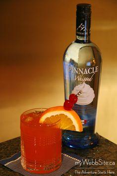 Orange Cream Soda Splash:  2 oz Pinnacle Whipped Vodka  1 oz Pink Grapefruit Juice  4 oz Orange Pop