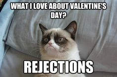 what i love about valentines day rejections - GrumpyCat