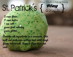 "Frugal Family Fun: St. Patrick's Day Sparkly Play Dough - <a href=""http://HotCouponWorld.comHotCouponWorld.com"" rel=""nofollow"" target=""_blank"">HotCouponWorld.co...</a>"