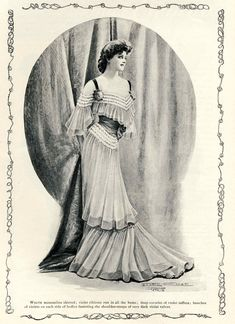 Clearly Vintage: Fashionable Ladies Vintage Illustrations, Fashion Illustrations, 1900s Fashion, Vintage Fashion, Court Dresses, Old Magazines, Vintage Maps, Corsets, Formal Wear
