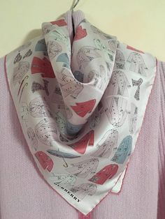 BURBERRY Silk Scarf Made in Italy by LaSuzana on Etsy Happy Shopping,  Raincoat, Umbrellas e8f9422fea2