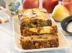 Apple Spice Cake and Loaf Recipe: Fall Baking Apple Loaf Cake, Apple Pie Bread, Apple Spice Cake, Lemon Dessert Recipes, Fruit Recipes, Greek Recipes, Greek Desserts, Fall Desserts, Loaf Recipes