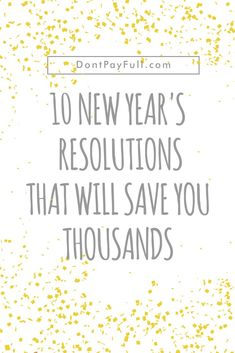 This year add money saving resolutions on your list, like starting a savings emergency fund. You will thank yourself next time you need money! Ways To Save Money, Money Tips, Money Saving Tips, How To Make Money, Saving Ideas, Managing Money, Money Savers, Frugal Living Tips, Frugal Tips