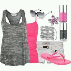 I ❤️❤️ this outfit. LOLO Moda: Fashionable women outfits for summer. Look Fashion, Fashion Outfits, Womens Fashion, Fasion, Fashion Ideas, Fashion Inspiration, Grey Fashion, Fashion Design, Looks Style