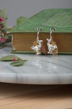 dodo and palm leaves earrings www.amandacoleman.co.uk £112