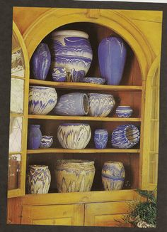 Vintage blue swirl Nemaji pottery