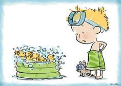 Bubble bath by Priscilla Burris *heart*