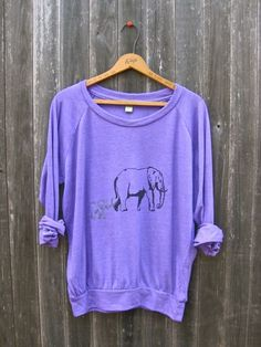 me and mama Elephant Shirt Gift for Mom Slouchy by nicandthenewfie, $36.00