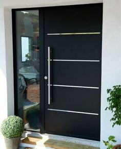 16 charming front door designs to choose from .- 16 charmante Haustür-Designs, die Ihnen bei Ihrer Auswahl helfen – Hauseingan… 16 charming front door designs to help you make your selection entrance - Modern Entrance Door, Modern Front Door, Front Door Entrance, House Front Door, Entrance Decor, House Entrance, Front Entry, Modern Exterior Doors, Entrance Ideas