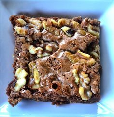 In a hurry Heath Brownies & Walnuts. Recipe at ReluctantEntertainer.com