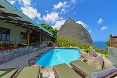 St. Lucia, private pool