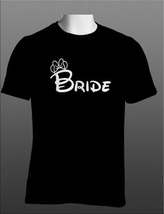Disney Wedding Bride Shirt for the young at heart having that dream wedding. on Etsy, $15.95