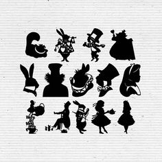 Items similar to Alice in Wonderland Disney Silhouette SVG Cut File, Digital Clipart, Editable Vector on Etsy Alice In Wonderland Silhouette, Alice And Wonderland Tattoos, Alicia Wonderland, Alice In Wonderland Party, Disney Fantasy, Disney Silhouette Art, Monster High Dolls, Disney Tattoos, Digital Image