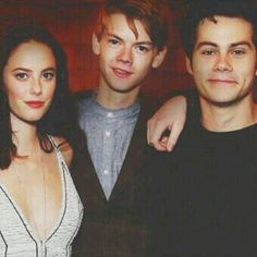 The Maze Runner cast - Kaya Scodelario, Thomas-Brodie Sangster, Dylan O'Brien