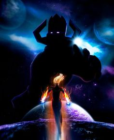 Check out this awesome collection of Captain Marvel Vs Galactus IPhone Wallpaper is the top choice wallpaper images for your desktop, smartphone, or tablet. Hawkeye Comic, Hawkeye Avengers, Marvel Comic Character, Marvel Characters, Marvel Fan, Captain Marvel, Marvel Logo, Galactus Marvel, Iron Man Stark
