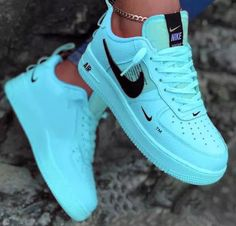 Discovered by Patty. Find images and videos about fashion, nike and sneakers on We Heart It - the app to get lost in what you love. Nike Shoes Blue, Cute Nike Shoes, Nike Shoes Air Force, Cute Sneakers, Shoes Sneakers, Nike Shoes For Women, Girls Sneakers, Jordan Shoes Girls, Girls Shoes