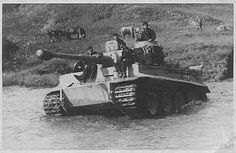 A Tiger 1 crossing waterway