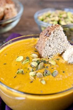 Carrot and pistachio soup #soup #carrot