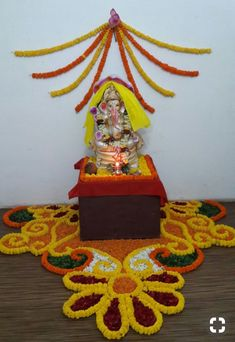 Welcome Home Decorations, Diwali Decorations At Home, Home Wedding Decorations, Festival Decorations, Flower Decorations, Rangoli Designs Flower, Colorful Rangoli Designs, Flower Rangoli, Beautiful Rangoli Designs