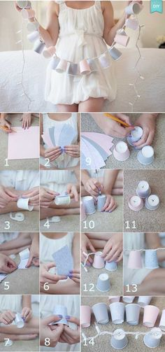 DIY: Bright ideas to decorate your wedding Organize a wedding Crafts For Teens, Diy And Crafts, Coffee Cup Crafts, Wedding Room Decorations, Decoration Evenementielle, Craft Wedding, Craft Videos, Fairy Lights, Diy Room Decor
