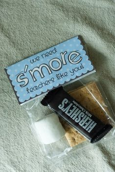 """We need s'more teachers like you! Teacher appreciation gifts made gifts it yourself gifts handmade gifts Volunteer Appreciation, Teacher Appreciation Week, Volunteer Gifts, Customer Appreciation, Volunteer Teacher, Craft Gifts, Diy Gifts, Easy Teacher Gifts, Small Gifts For Teachers"