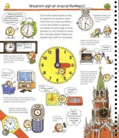 Een werkblaadje over waarom er overal klokken zijn.