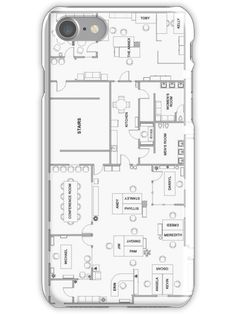 The Office Floor Plan iPhone 7 Snap Case Full HD – Best of Wallpapers for Andriod and ios
