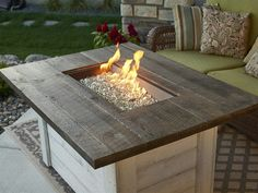 Diy Gas Fire Pit, Gas Fire Pit Table, Gas Outdoor Fire Pit, Deck With Fire Pit, Fire Pit Grill, Outdoor Wood Burning Fireplace, Wood Burning Fire Pit, Deck Fireplace, Backyard Seating