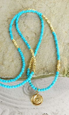 Natural genuine blue turquoise gemstone