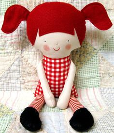 Rag doll pattern - I love this!! Wouldnt this be a great pattern for superhero dolls for boys too? (just ditch the pigtails and add a cape or mask.. ala Ninago?)