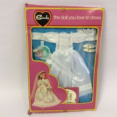 RARE Vintage 1974 Pedigree Sindy Doll Clothes - Wedding Bride Dress BOXED UNUSED | 24.09+5.95