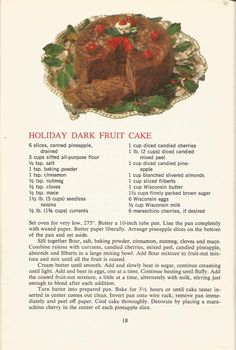Vintage Recipes: 1964 Cakes, Cookies and Frostings Retro Recipes, Old Recipes, Vintage Recipes, Baking Recipes, Diet Recipes, Cake Recipes, Dessert Recipes, Frosting Recipes, Recipies