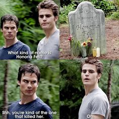5x04 This scene is still funny tbh I felt so sorry for Stefan when he lost his memories though I've basically run out of questions to ask on my posts Stefan or Silas?