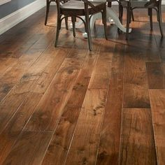 Hudson Bay Random Width Engineered Walnut Hardwood Flooring in Alberta