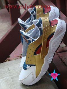 SALE -Custom Nike Huarache- American Flag Print Huarache Sneakers- Women/ Men/ Kids