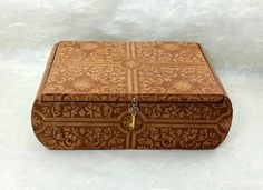 Saddle Brown Faux Leather Decorated Box by AltaMacStudio on Etsy