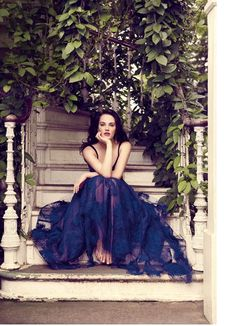 Jessica Brown-Findlay from Downton Abbey in Vogue UK