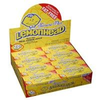 """LemonHead Candies made with """"Real Lemon Juice"""" Ferrara Pan LemonHead Candies made with """"real fruit juice"""". These candies have a Sour Lemon flavored exterior with a sweet hard candy inside!"""